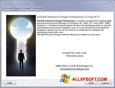 Screenshot Active Password Changer for Windows XP