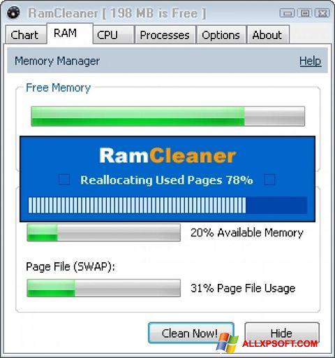 Screenshot RamCleaner for Windows XP