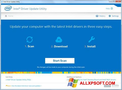 Screenshot Intel Driver Update Utility for Windows XP
