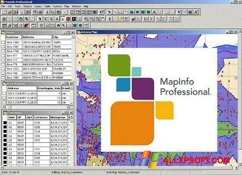 Screenshot MapInfo Professional for Windows XP