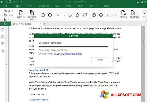 Screenshot PDF Editor for Windows XP