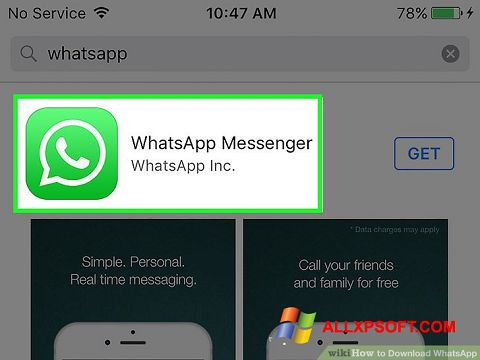 Screenshot WhatsApp for Windows XP