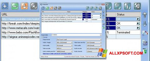 Screenshot VideoGet for Windows XP