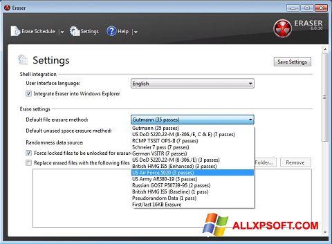 Screenshot Eraser for Windows XP