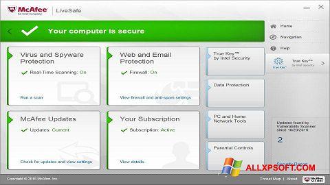 Screenshot McAfee LiveSafe for Windows XP