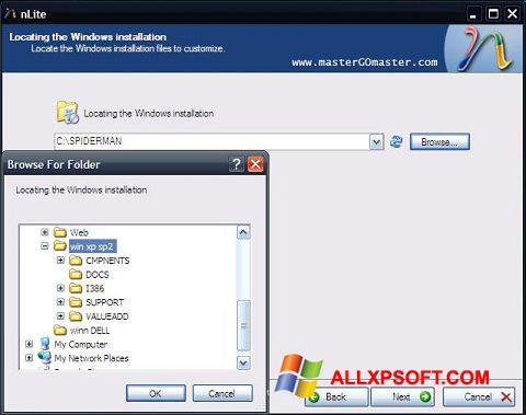 Screenshot nLite for Windows XP