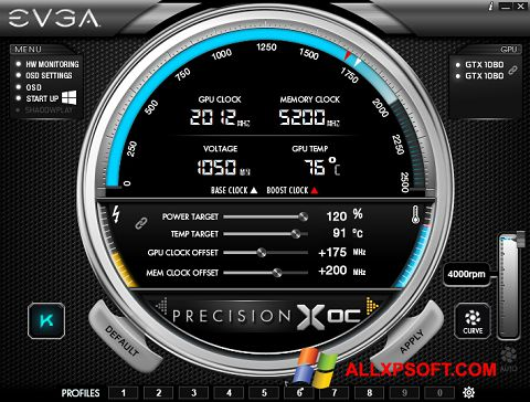 Screenshot EVGA Precision for Windows XP