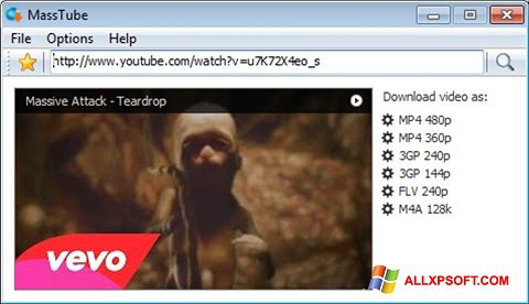 Screenshot MassTube for Windows XP
