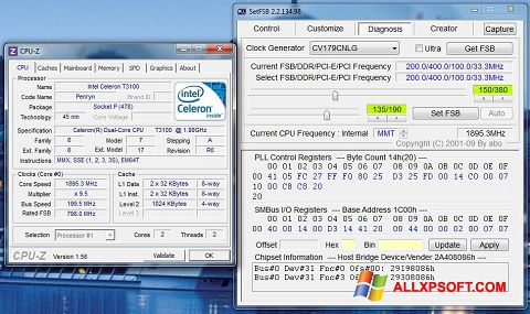 Screenshot SetFSB for Windows XP
