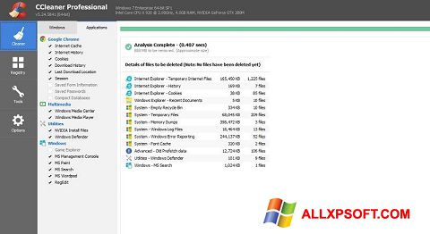 Screenshot CCleaner Professional Plus for Windows XP