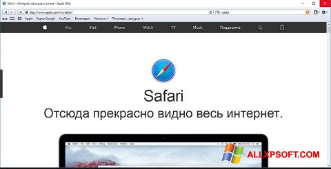 Screenshot Safari for Windows XP