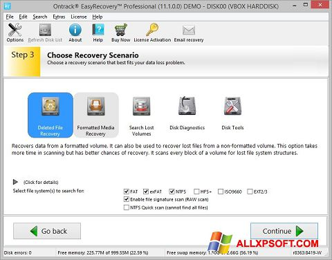 Screenshot EasyRecovery Professional for Windows XP