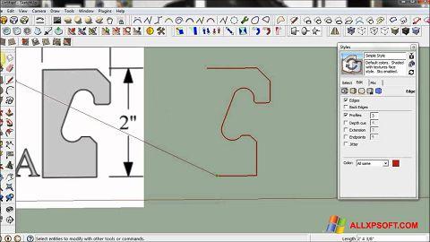 Screenshot SketchUp for Windows XP