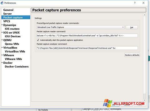 Screenshot Wireshark for Windows XP