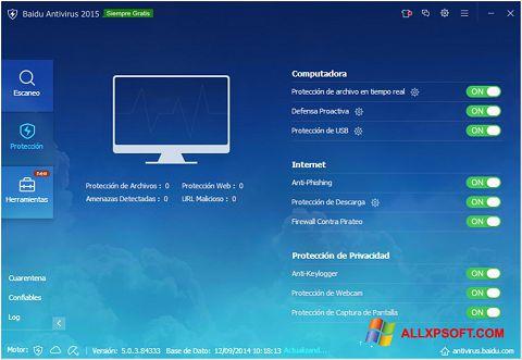 Screenshot Baidu Antivirus for Windows XP