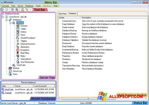 Screenshot InterBase for Windows XP
