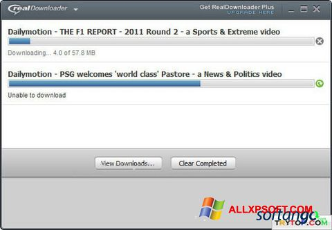Screenshot RealDownloader for Windows XP