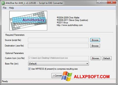 Screenshot AutoHotkey for Windows XP