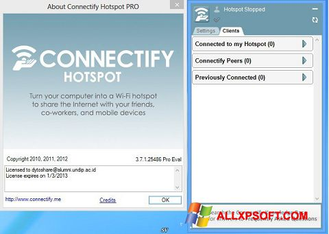 Download Connectify Pro for Windows XP (32/64 bit) in English