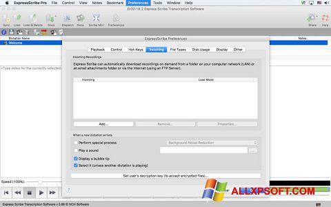 Screenshot Express Scribe for Windows XP