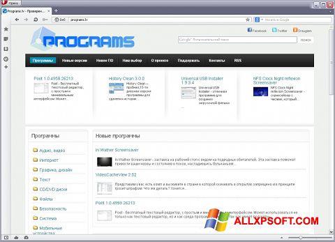 Screenshot Opera USB for Windows XP