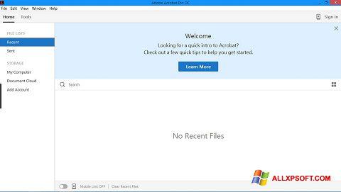 Screenshot Adobe Acrobat Pro for Windows XP