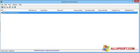 Download WebBrowserPassView for Windows XP (32/64 bit) in English
