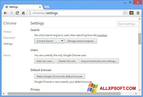 Screenshot Chrome Cleanup Tool for Windows XP