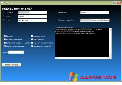 Screenshot PsExec for Windows XP