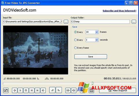 Screenshot Free Video to JPG Converter for Windows XP