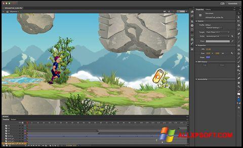 Screenshot Adobe Flash Professional for Windows XP