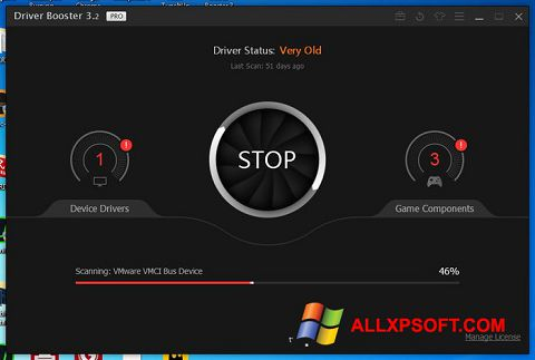 Screenshot Driver Booster for Windows XP