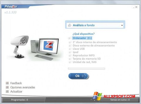 Screenshot PrivaZer for Windows XP