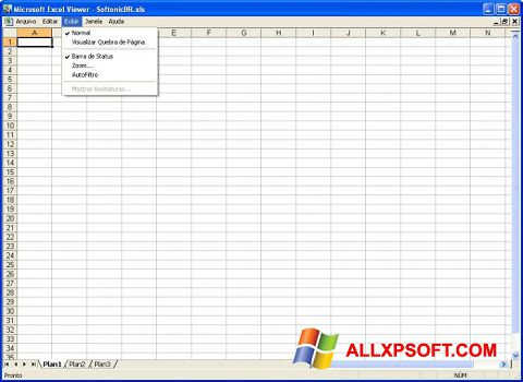 Screenshot Excel Viewer for Windows XP