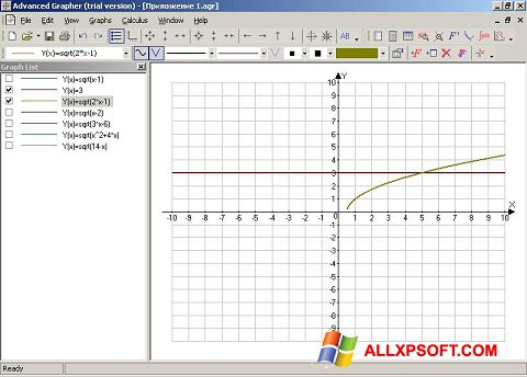 Screenshot Advanced Grapher for Windows XP