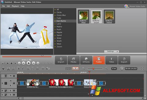 Screenshot Movavi Video Suite for Windows XP