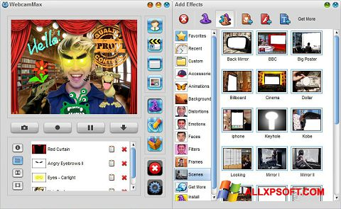 Screenshot WebcamMax for Windows XP