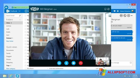 Screenshot Skype for Windows XP
