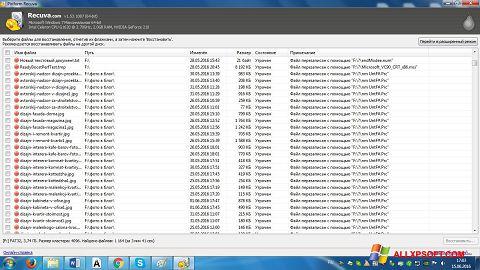 Screenshot Recuva for Windows XP