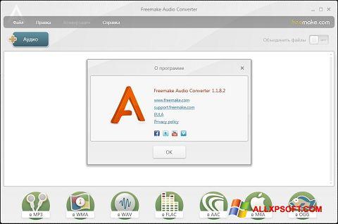 Screenshot Freemake Audio Converter for Windows XP