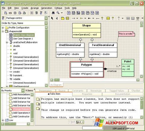 Screenshot ArgoUML for Windows XP