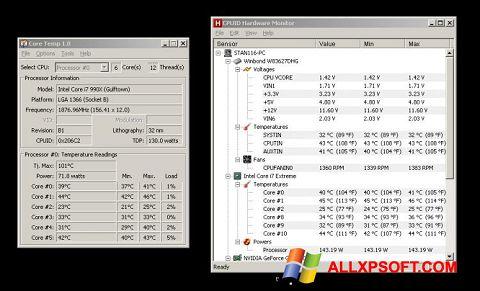 Screenshot Core Temp for Windows XP