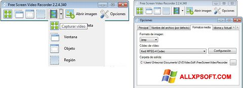 Screenshot Free Screen Video Recorder for Windows XP