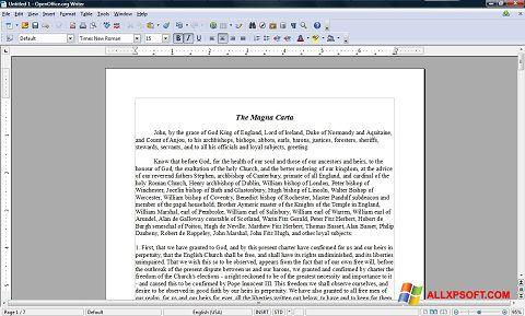 Screenshot OpenOffice for Windows XP