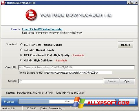 Screenshot Youtube Downloader HD for Windows XP