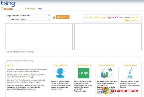 Screenshot Bing Translator for Windows XP