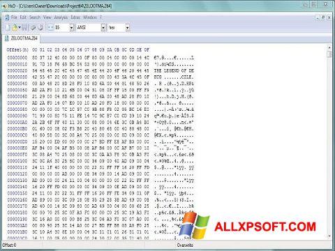 Screenshot Hex Editor for Windows XP