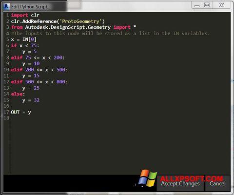 Screenshot Python for Windows XP