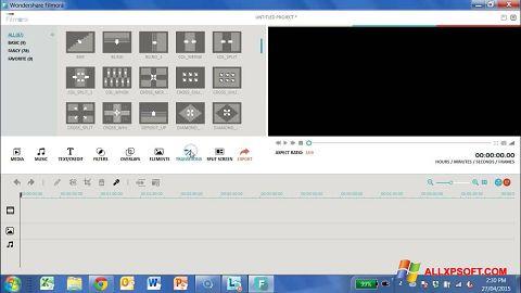 Screenshot Wondershare Filmora for Windows XP