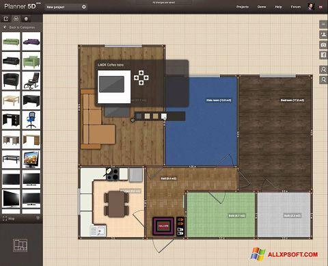 Screenshot Planner 5D for Windows XP